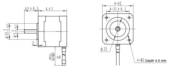 Dimensions of ZK42HM series