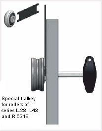 Mounting rollers T-Race series LA