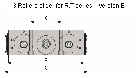 3 roller slider for R.T series  - Version B