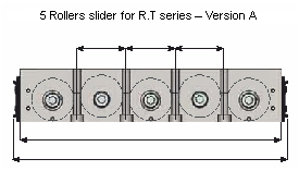 Sliders with 5 rolleres of R.T. series