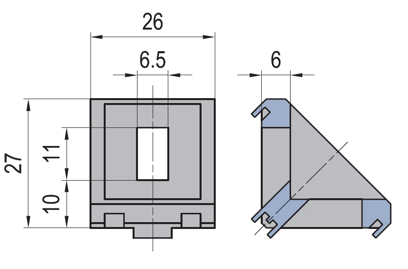 Angle connector 30/30