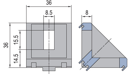 Angle connector 40/40