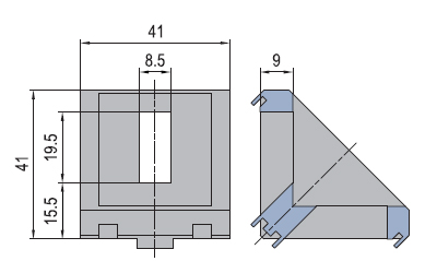 Angle connector 45/45